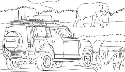 A aventura está em casa com as ilustrações da Land Rover